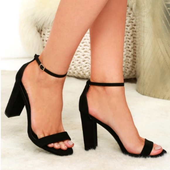 64478a4cd0c lulu s black block heel sandals